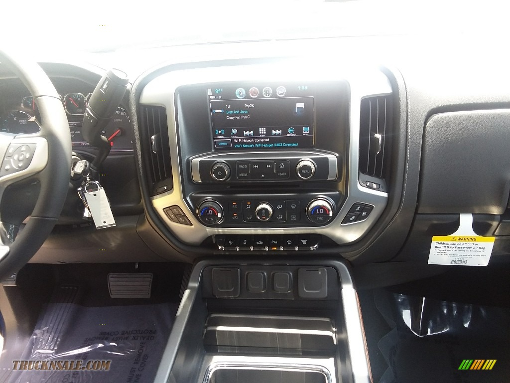 2019 Sierra 2500HD SLT Crew Cab 4WD - Stone Blue Metallic / Jet Black photo #7