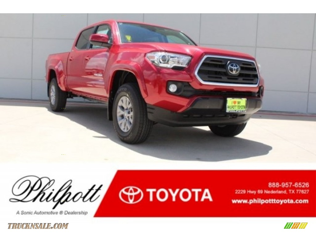 2018 Tacoma SR5 Double Cab - Barcelona Red Metallic / Cement Gray photo #1