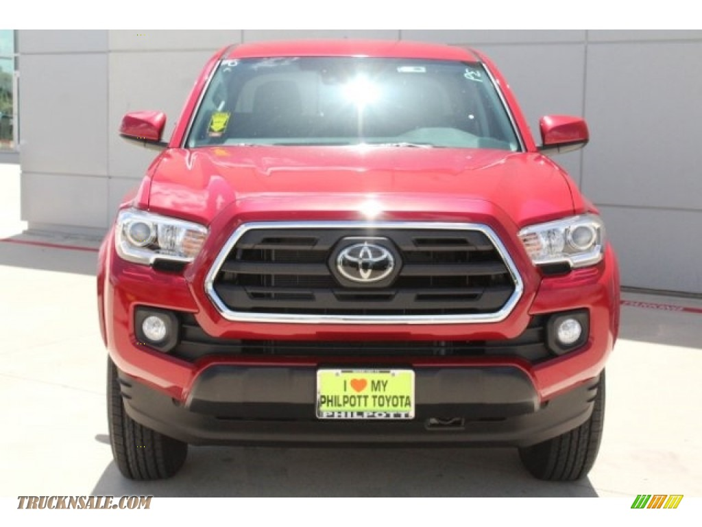 2018 Tacoma SR5 Double Cab - Barcelona Red Metallic / Cement Gray photo #2