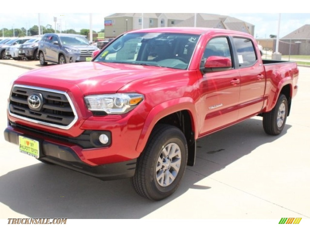2018 Tacoma SR5 Double Cab - Barcelona Red Metallic / Cement Gray photo #3