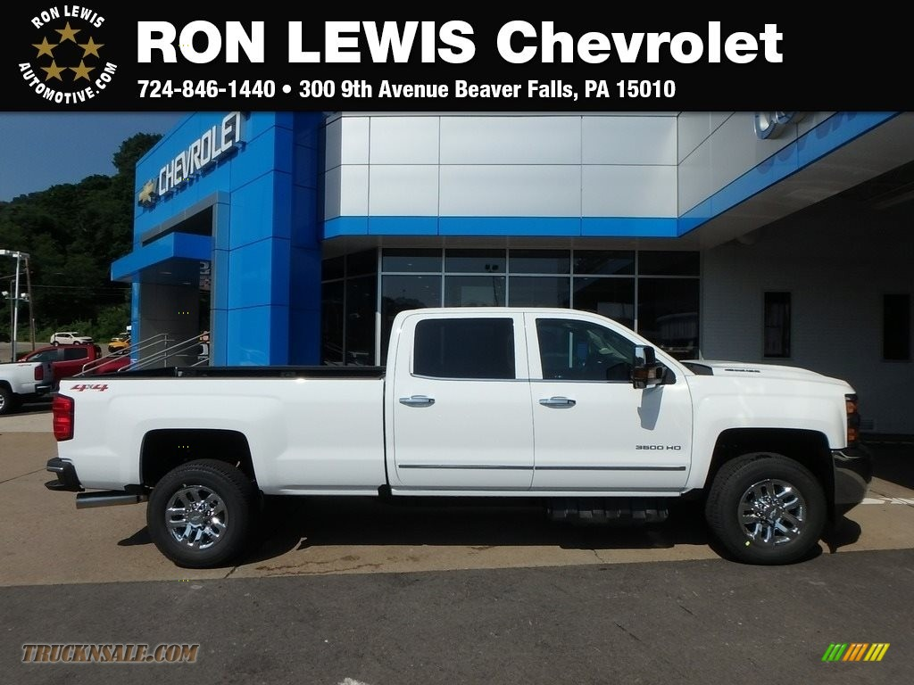 2019 Silverado 3500HD LTZ Crew Cab 4x4 - Summit White / Cocoa/­Dune photo #1