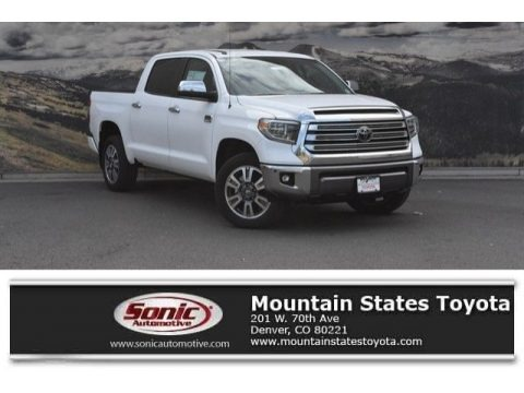 Super White 2018 Toyota Tundra 1794 Edition CrewMax 4x4