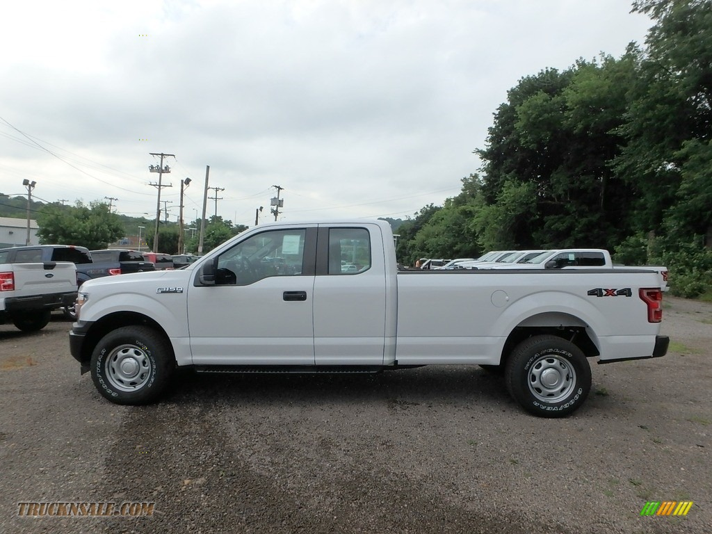 2018 F150 XL SuperCab 4x4 - Oxford White / Earth Gray photo #7