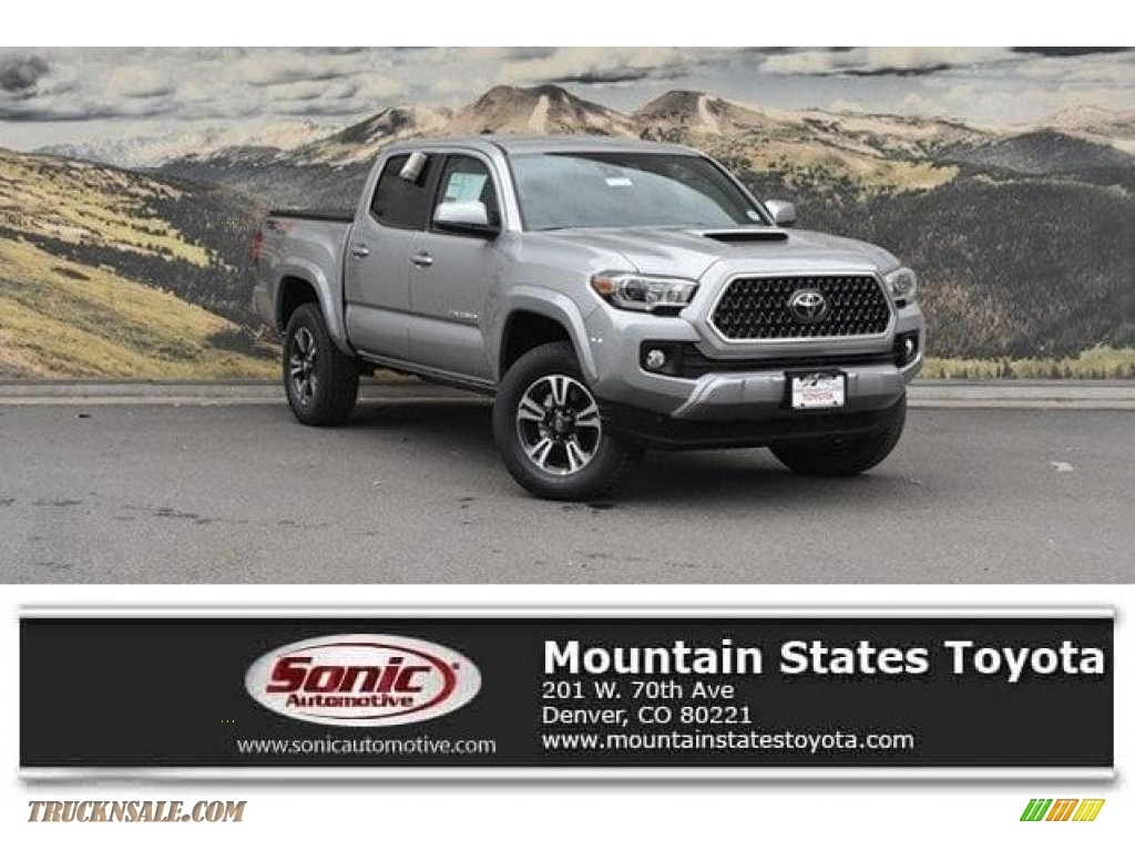 2018 Tacoma TRD Sport Double Cab 4x4 - Silver Sky Metallic / Cement Gray photo #1