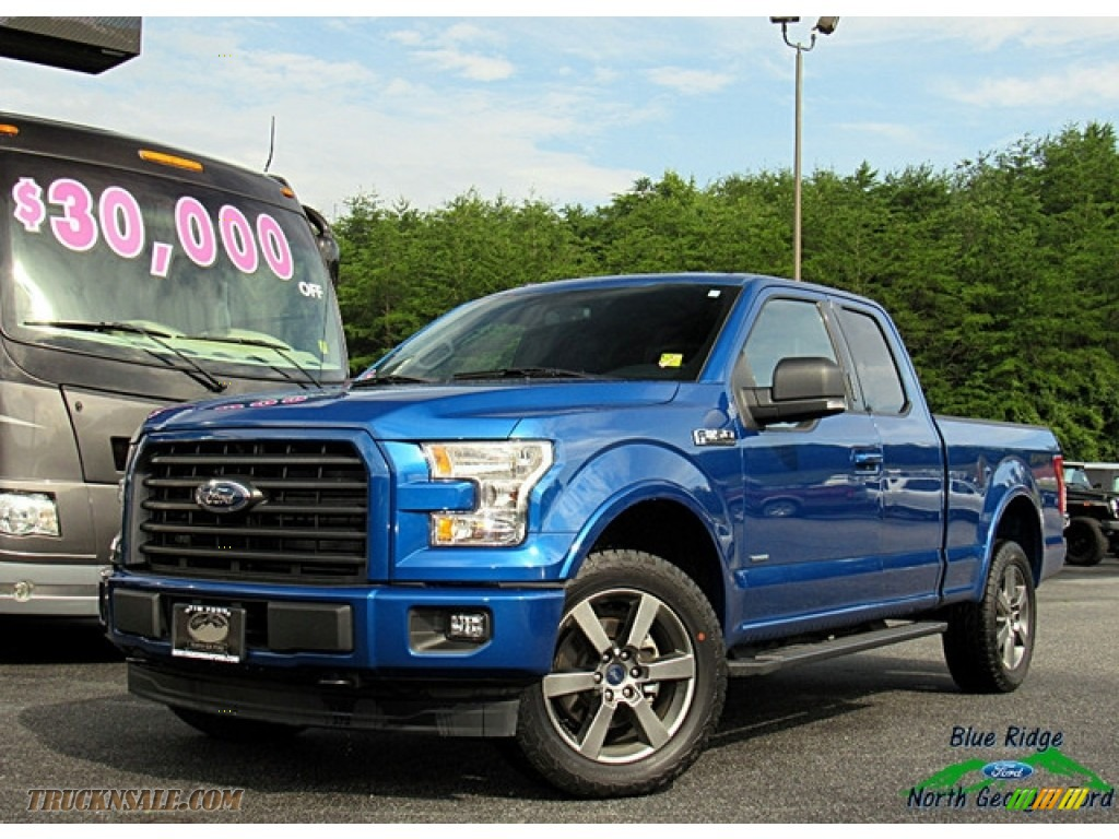 2017 F150 XLT SuperCab 4x4 - Blue Jeans / Light Camel photo #1