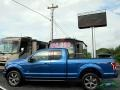 Ford F150 XLT SuperCab 4x4 Blue Jeans photo #2