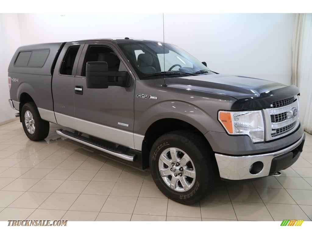 2013 F150 XLT SuperCab 4x4 - Sterling Gray Metallic / Steel Gray photo #1