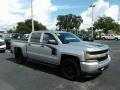 Chevrolet Silverado 1500 Custom Crew Cab 4x4 Silver Ice Metallic photo #7
