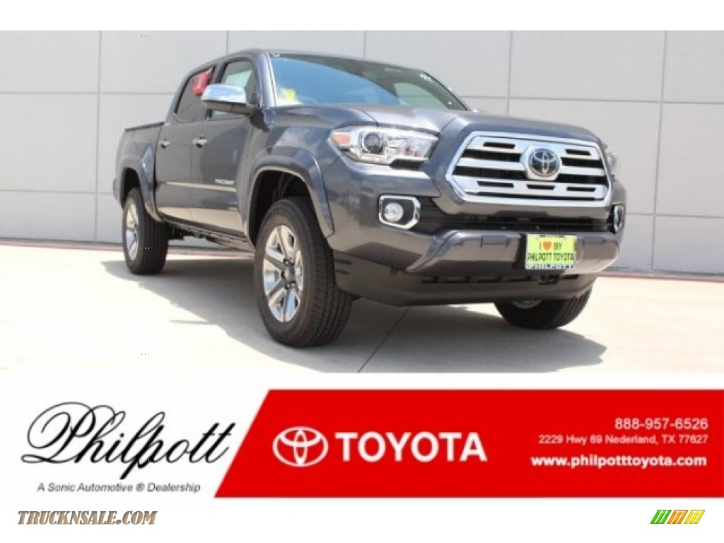 Magnetic Gray Metallic / Hickory Toyota Tacoma Limited Double Cab