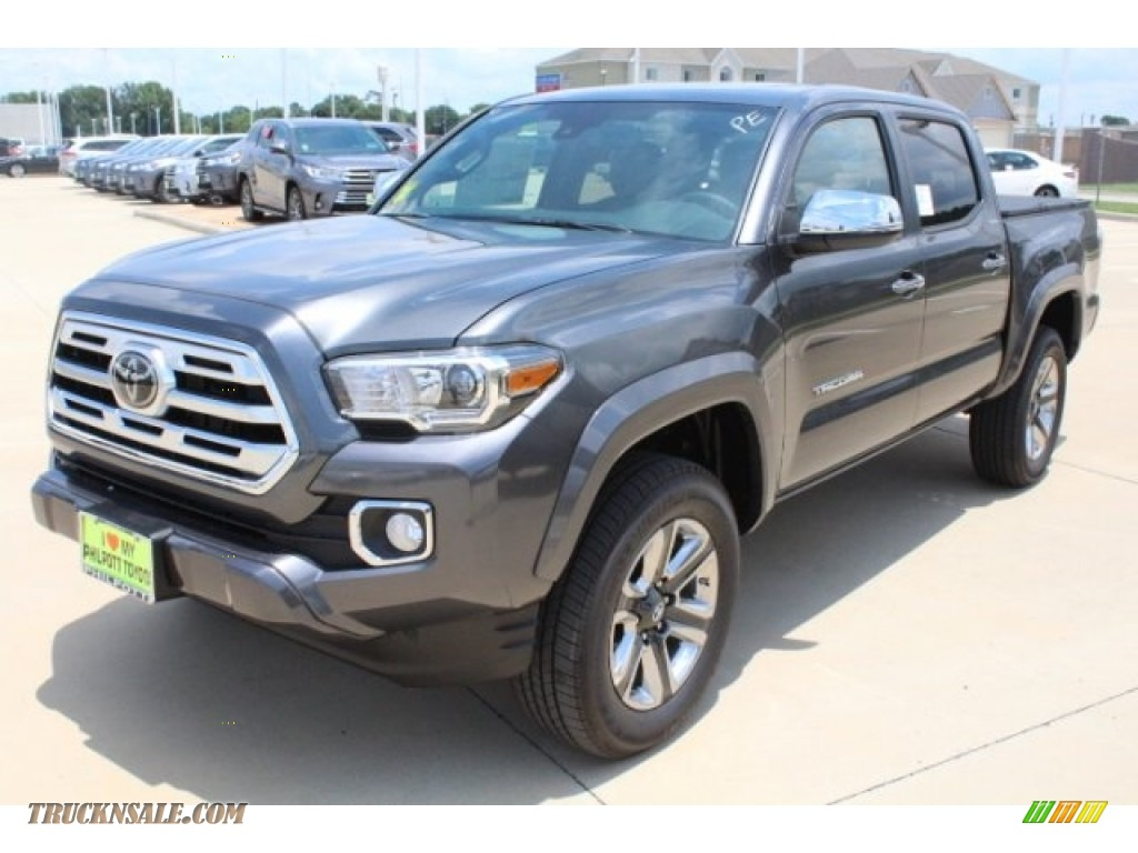 2018 Tacoma Limited Double Cab - Magnetic Gray Metallic / Hickory photo #3