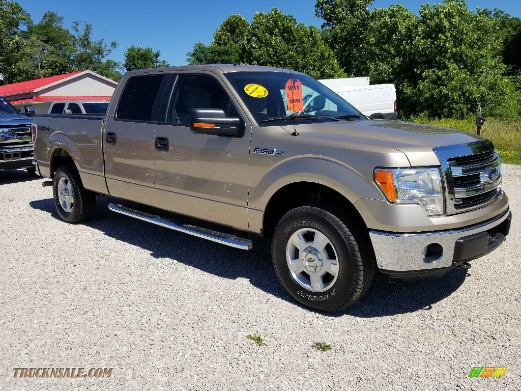2013 F150 XLT SuperCrew 4x4 - Pale Adobe Metallic / Adobe photo #7