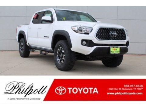Super White 2018 Toyota Tacoma TRD Off Road Double Cab 4x4