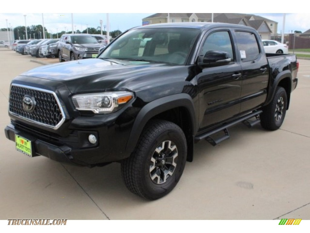 2018 Tacoma TRD Off Road Double Cab 4x4 - Midnight Black Metallic / Graphite w/Gun Metal photo #3