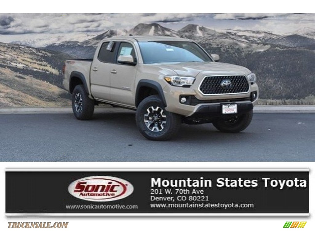 2018 Tacoma TRD Off Road Double Cab 4x4 - Quicksand / Cement Gray photo #1