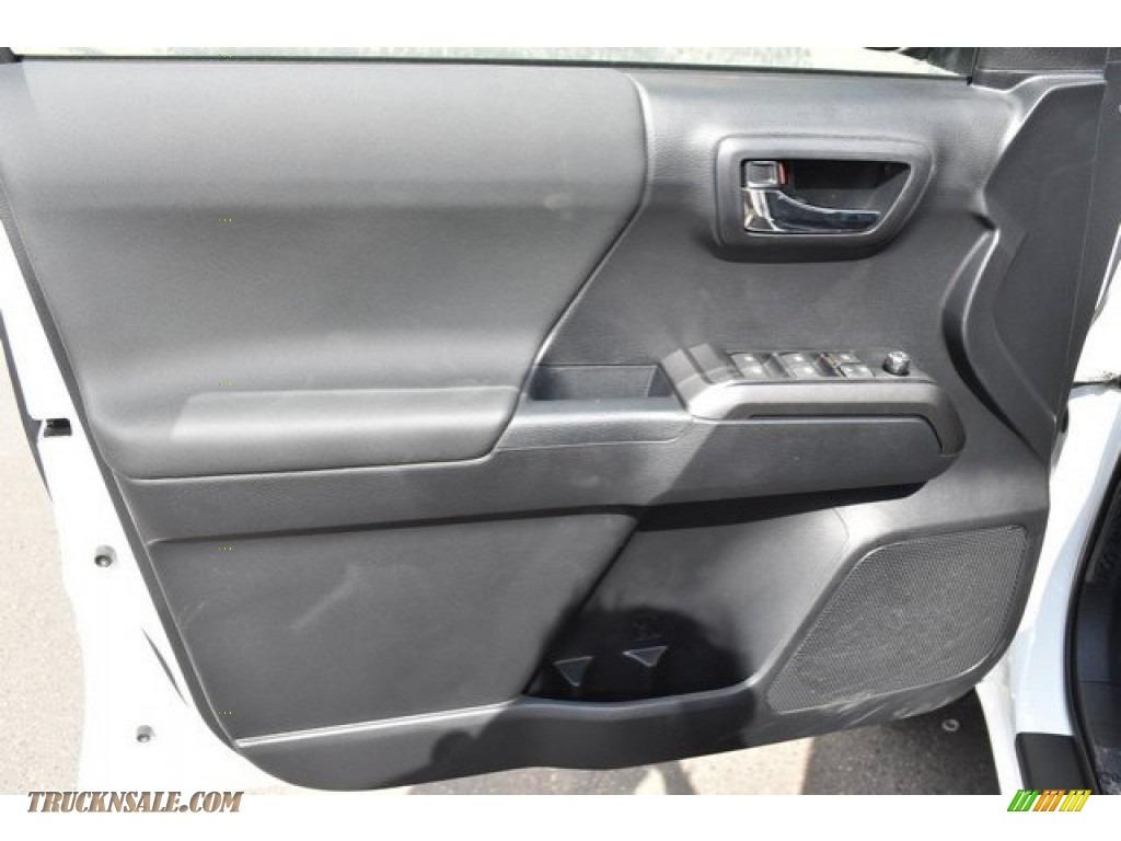 2018 Tacoma TRD Sport Double Cab 4x4 - Super White / Graphite w/Gun Metal photo #20
