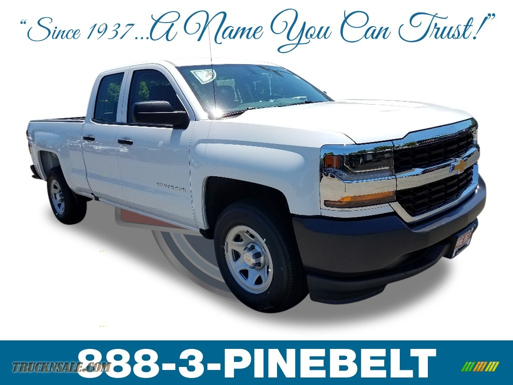 2018 Silverado 1500 WT Double Cab - Summit White / Dark Ash/Jet Black photo #1