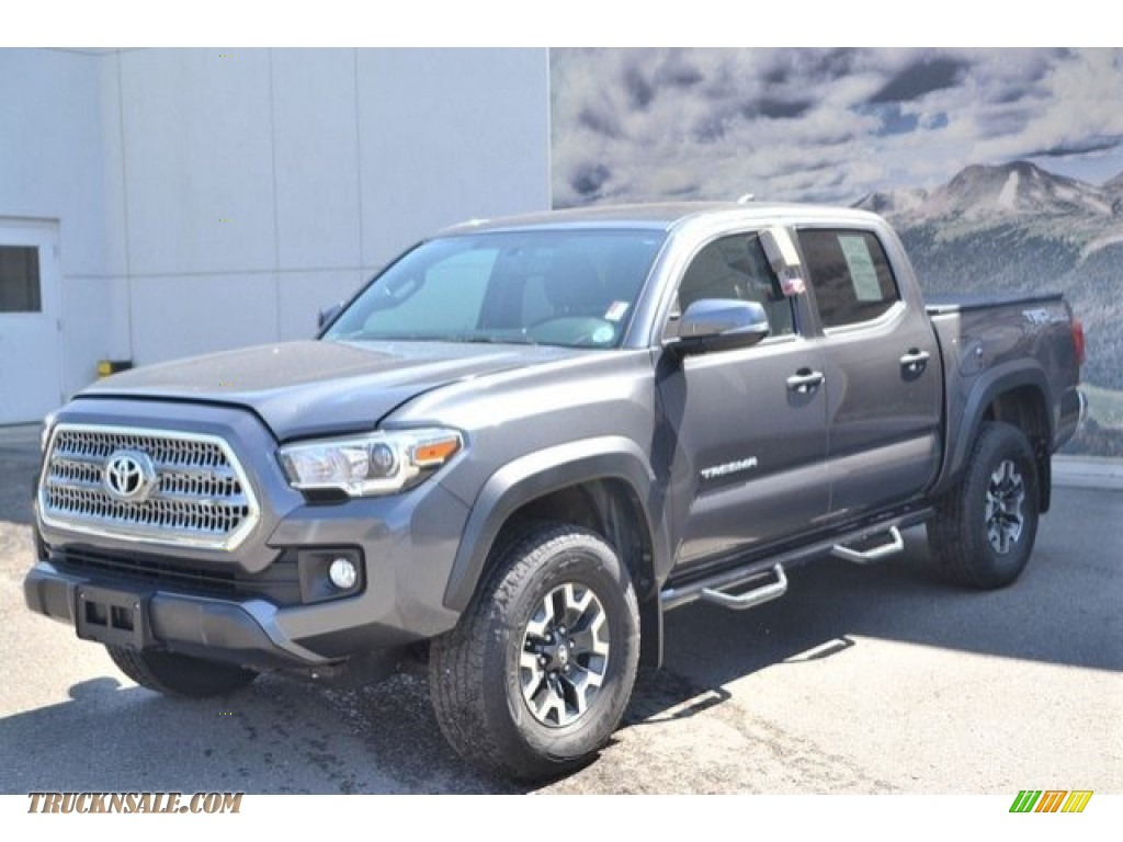 2017 Tacoma TRD Off Road Double Cab 4x4 - Magnetic Gray Metallic / Cement Gray photo #2