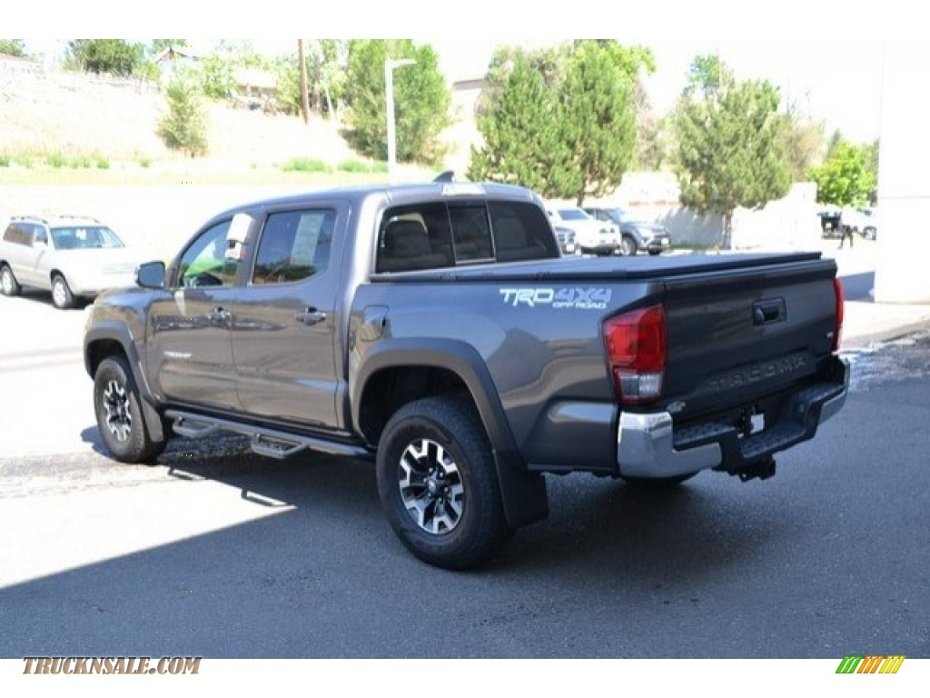 2017 Tacoma TRD Off Road Double Cab 4x4 - Magnetic Gray Metallic / Cement Gray photo #4