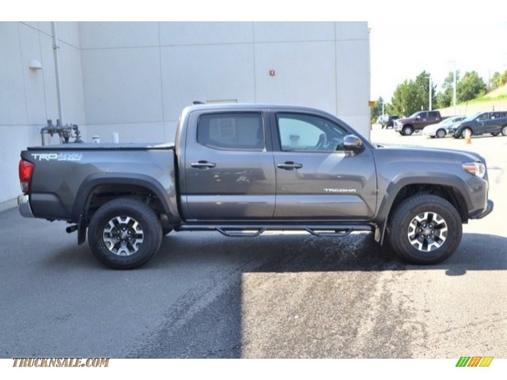 2017 Tacoma TRD Off Road Double Cab 4x4 - Magnetic Gray Metallic / Cement Gray photo #7