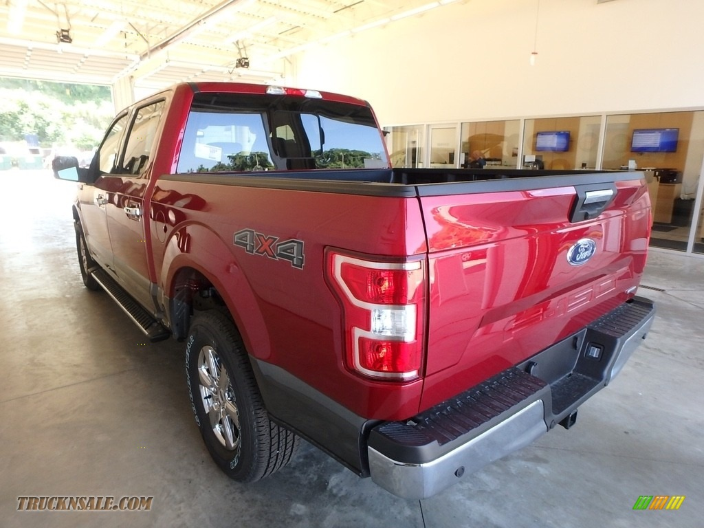2018 F150 XLT SuperCrew 4x4 - Ruby Red / Earth Gray photo #3