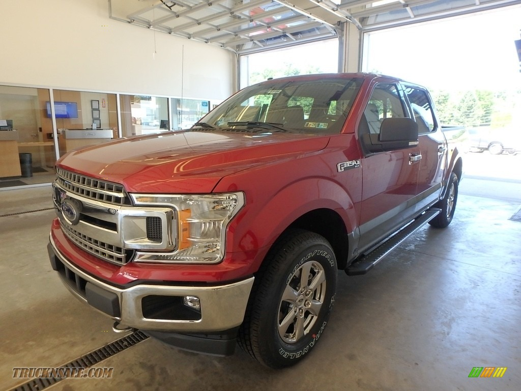 2018 F150 XLT SuperCrew 4x4 - Ruby Red / Earth Gray photo #4