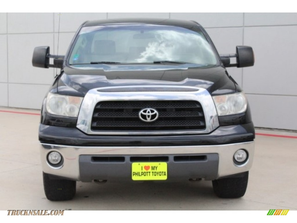 2008 Tundra SR5 CrewMax 4x4 - Black / Beige photo #2