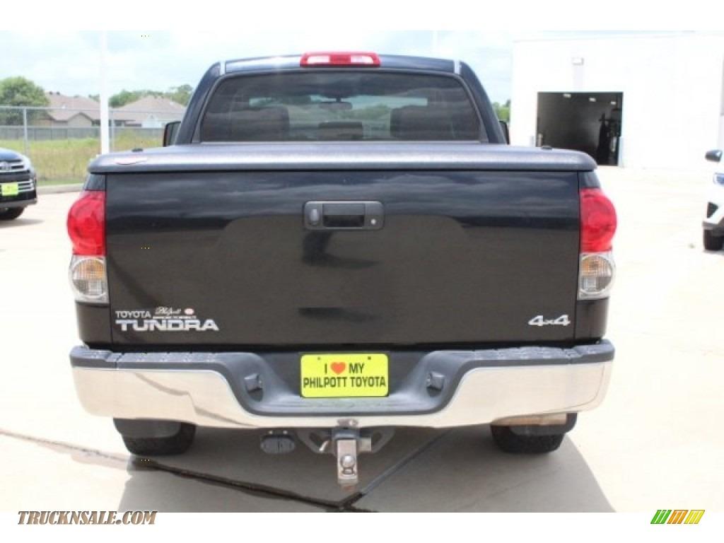 2008 Tundra SR5 CrewMax 4x4 - Black / Beige photo #7