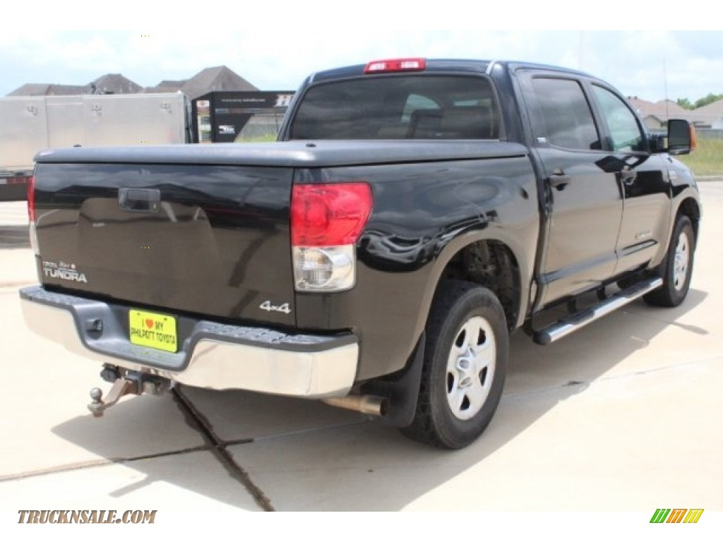 2008 Tundra SR5 CrewMax 4x4 - Black / Beige photo #8