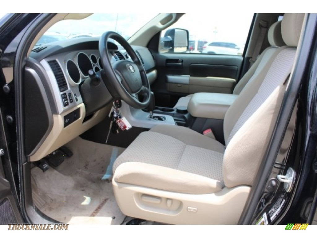 2008 Tundra SR5 CrewMax 4x4 - Black / Beige photo #14
