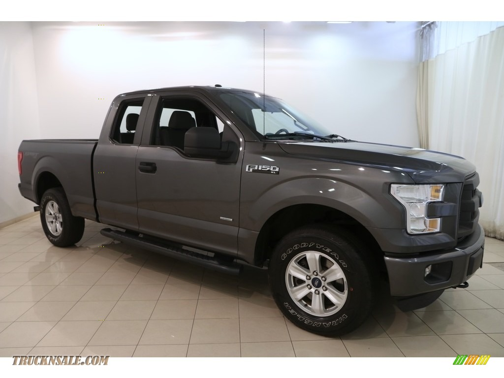 2015 F150 XL SuperCab 4x4 - Magnetic Metallic / Medium Earth Gray photo #1