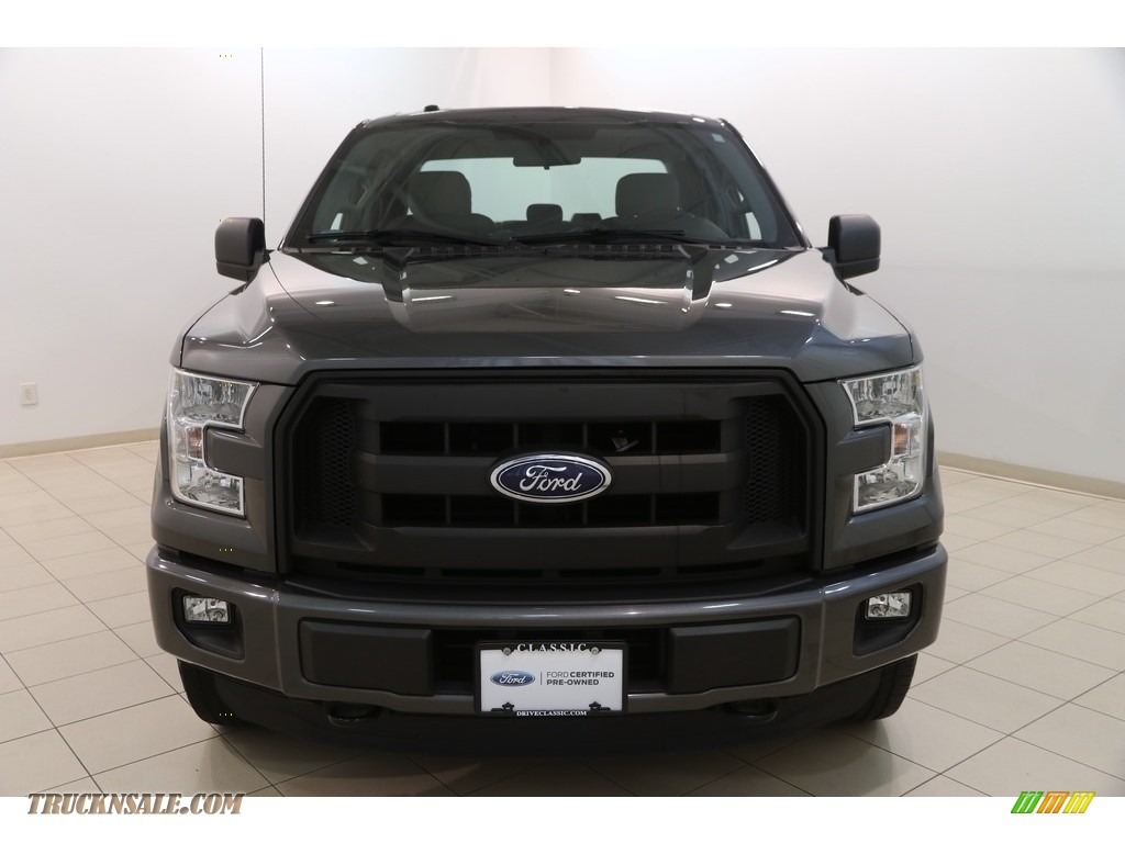 2015 F150 XL SuperCab 4x4 - Magnetic Metallic / Medium Earth Gray photo #2