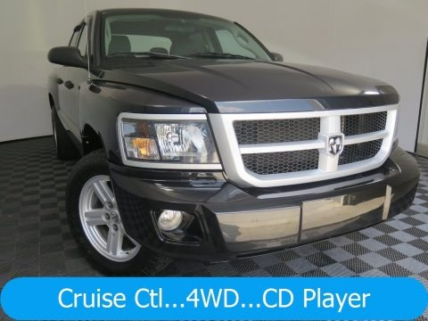 Brilliant Black 2008 Dodge Dakota Big Horn Crew Cab 4x4