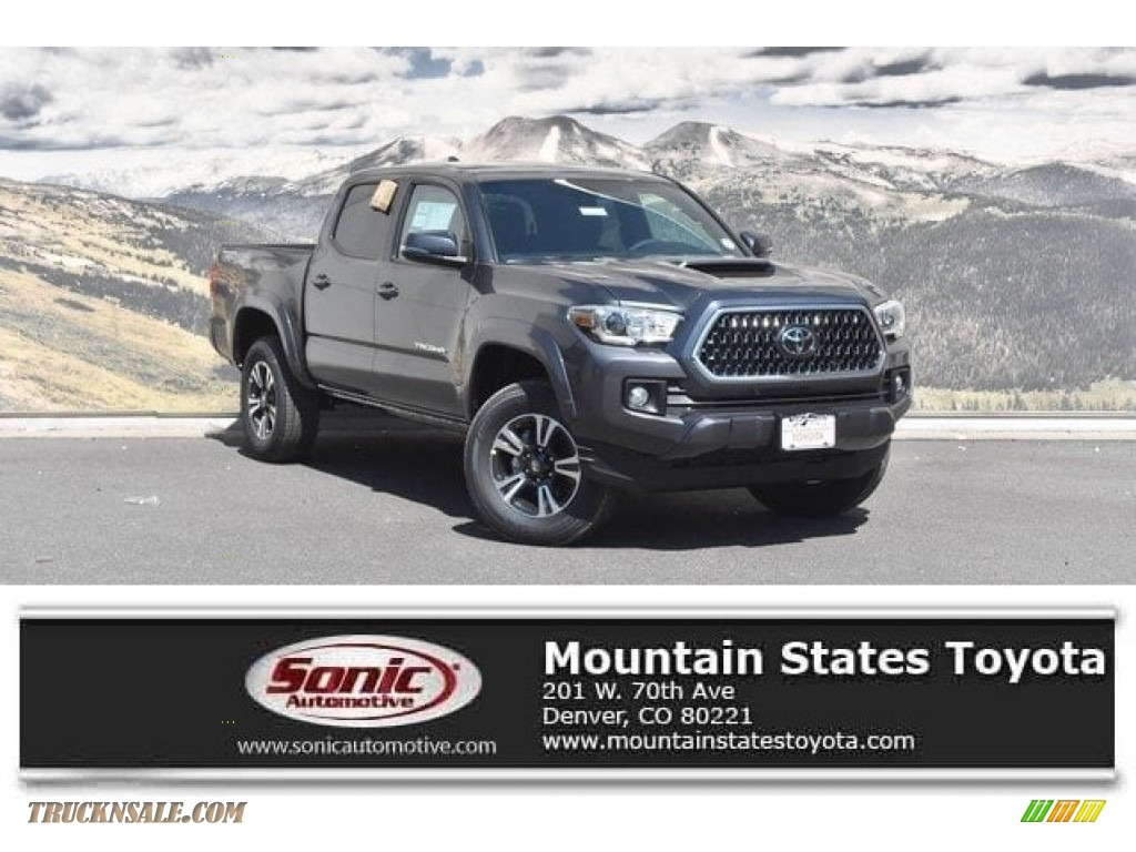 2018 Tacoma TRD Sport Double Cab 4x4 - Magnetic Gray Metallic / Cement Gray photo #1
