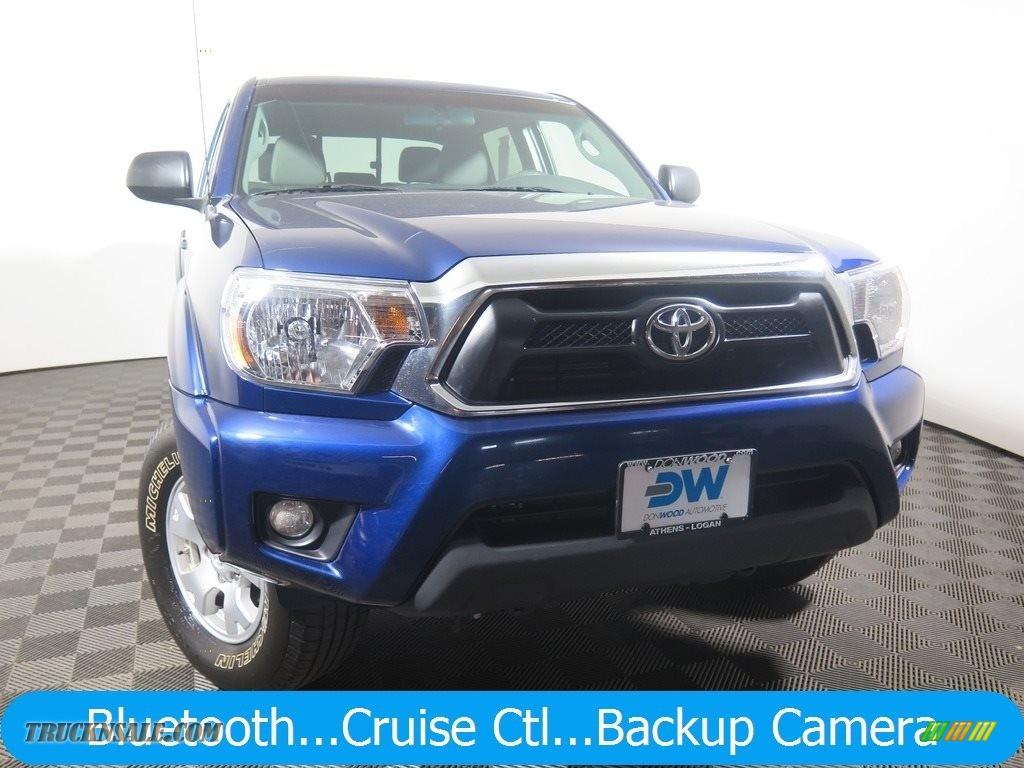 2015 Tacoma V6 Double Cab 4x4 - Blue Ribbon Metallic / Graphite photo #1