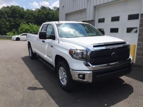 Super White 2018 Toyota Tundra SR5 Double Cab 4x4