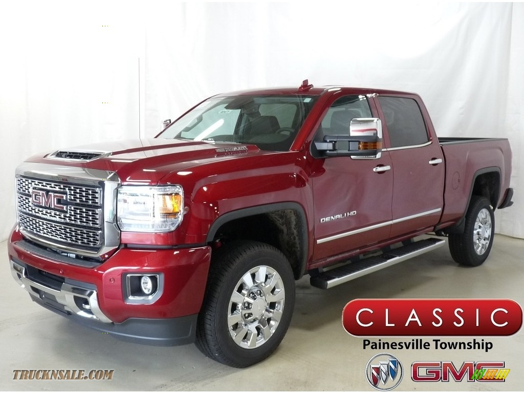 2019 Sierra 2500HD Denali Crew Cab 4WD - Red Quartz Tintcoat / Jet Black photo #1