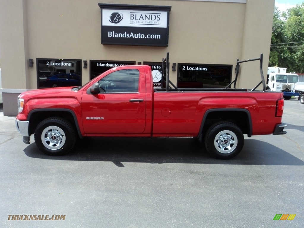 2014 Sierra 1500 Regular Cab - Fire Red / Jet Black/Dark Ash photo #1