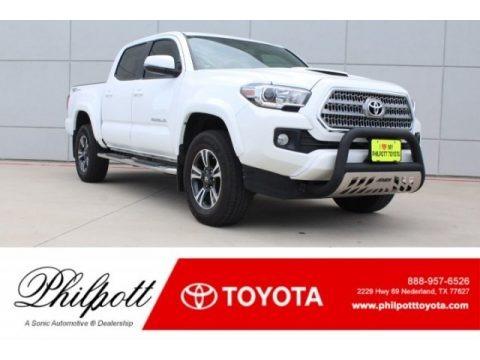 Super White 2017 Toyota Tacoma TRD Sport Double Cab