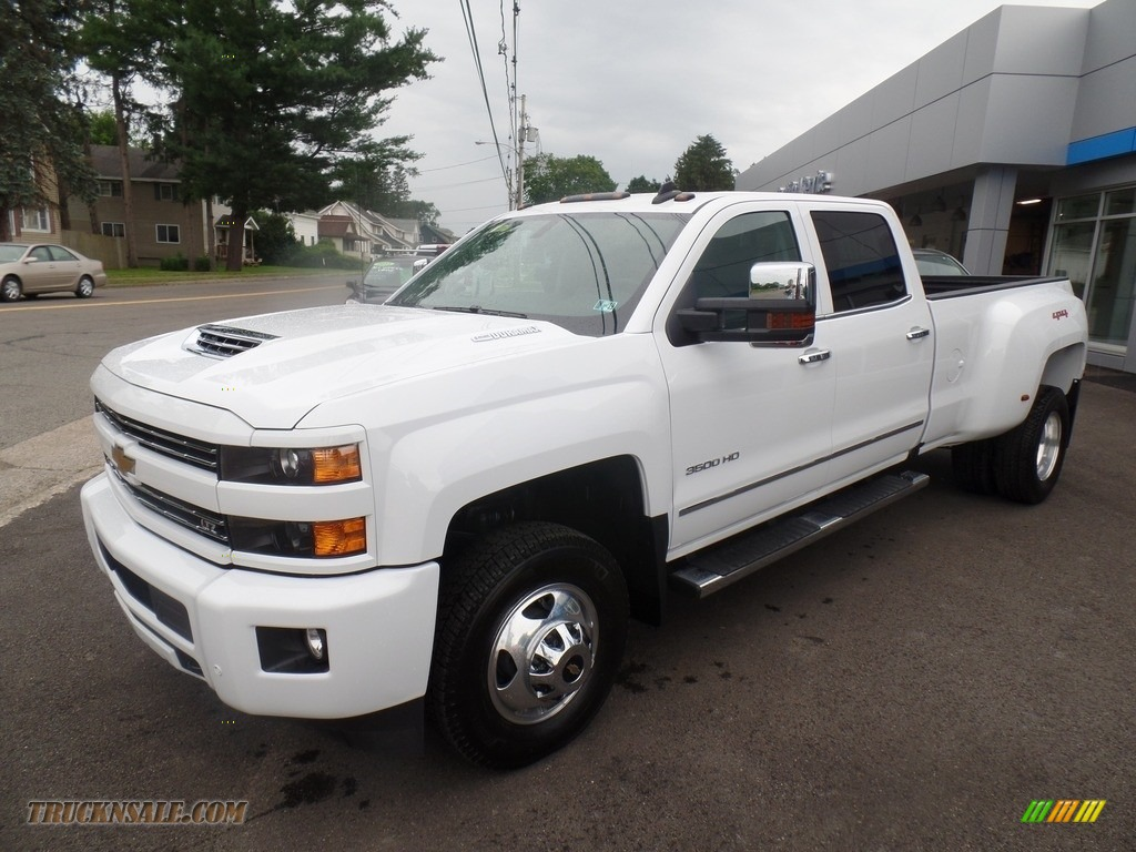 Summit White / Dark Ash/Jet Black Chevrolet Silverado 3500HD LTZ Crew Cab 4x4 Dual Rear Wheel