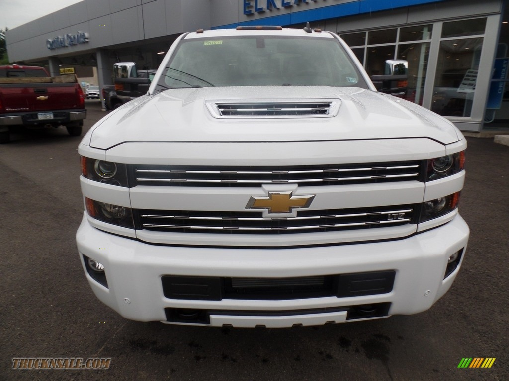 2019 Silverado 3500HD LTZ Crew Cab 4x4 Dual Rear Wheel - Summit White / Dark Ash/Jet Black photo #2