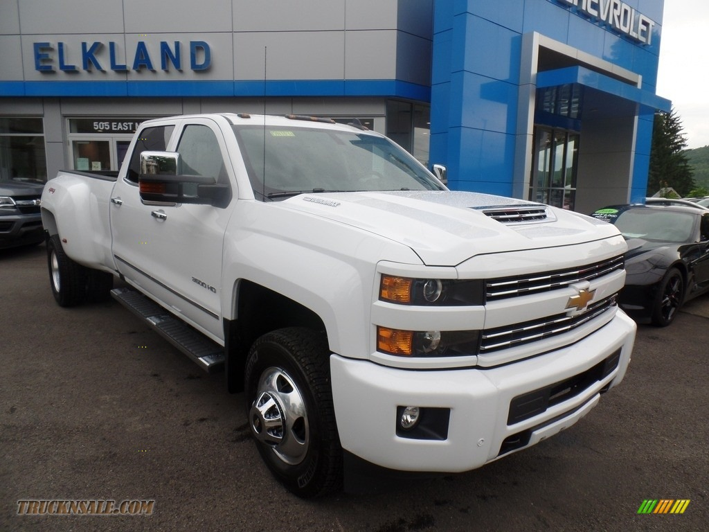 2019 Silverado 3500HD LTZ Crew Cab 4x4 Dual Rear Wheel - Summit White / Dark Ash/Jet Black photo #3