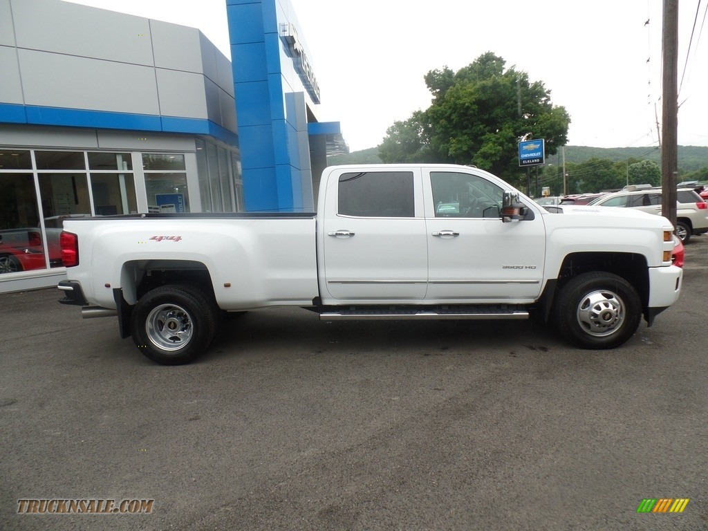 2019 Silverado 3500HD LTZ Crew Cab 4x4 Dual Rear Wheel - Summit White / Dark Ash/Jet Black photo #4