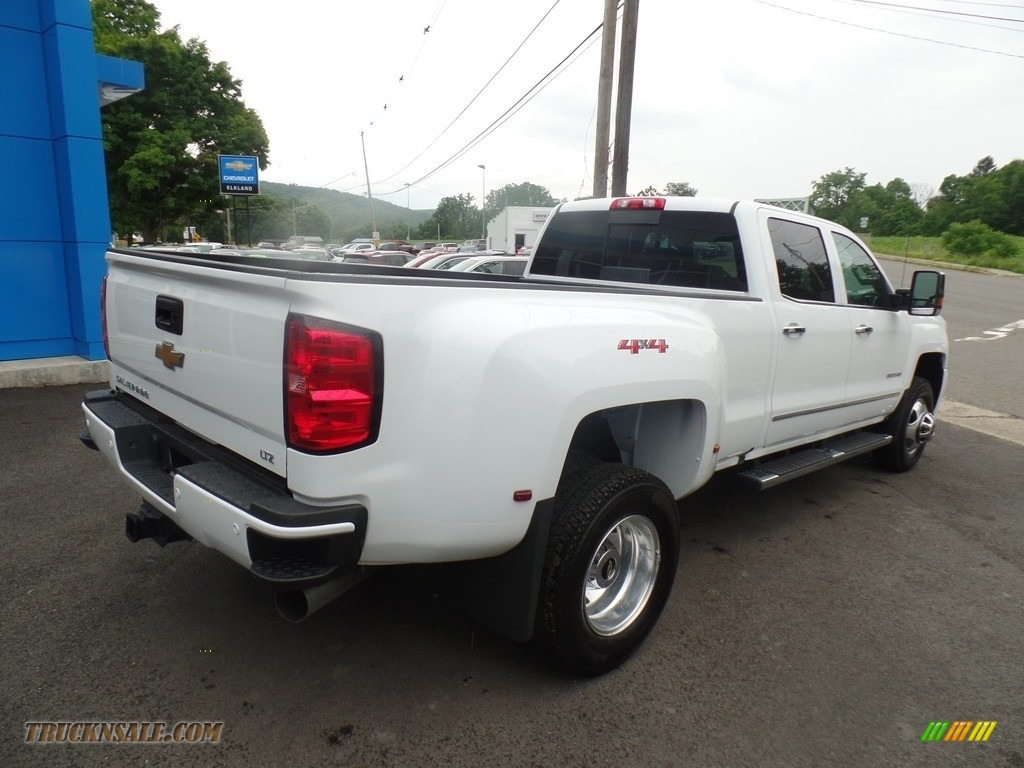 2019 Silverado 3500HD LTZ Crew Cab 4x4 Dual Rear Wheel - Summit White / Dark Ash/Jet Black photo #5