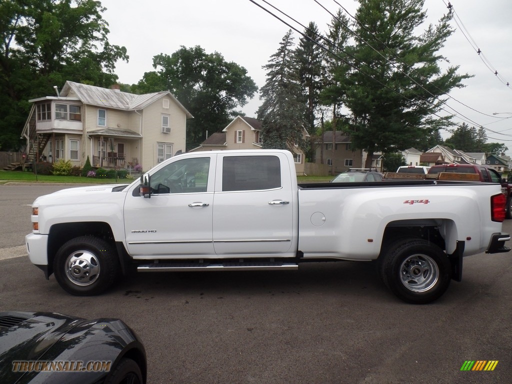 2019 Silverado 3500HD LTZ Crew Cab 4x4 Dual Rear Wheel - Summit White / Dark Ash/Jet Black photo #8