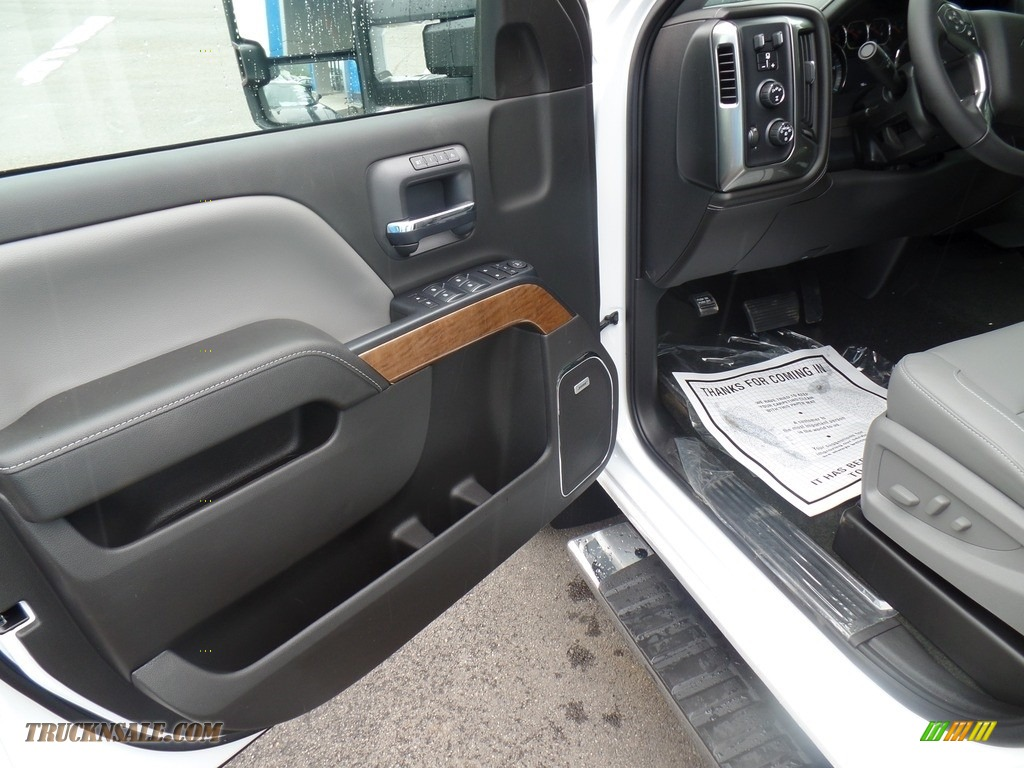 2019 Silverado 3500HD LTZ Crew Cab 4x4 Dual Rear Wheel - Summit White / Dark Ash/Jet Black photo #14