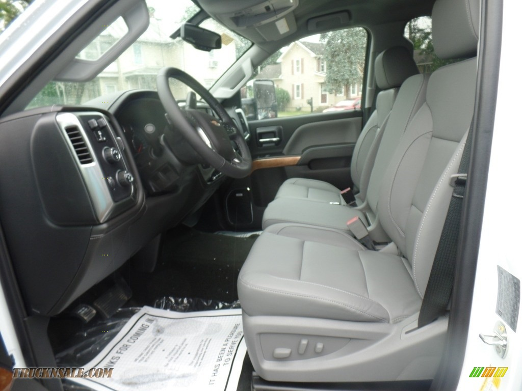 2019 Silverado 3500HD LTZ Crew Cab 4x4 Dual Rear Wheel - Summit White / Dark Ash/Jet Black photo #19