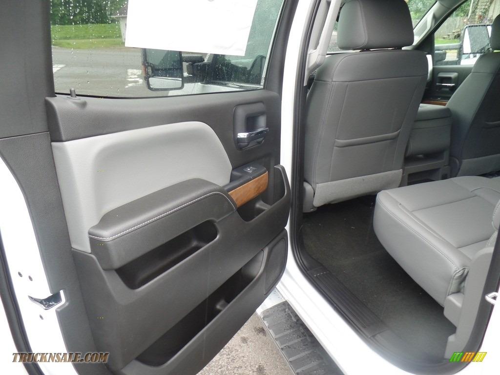 2019 Silverado 3500HD LTZ Crew Cab 4x4 Dual Rear Wheel - Summit White / Dark Ash/Jet Black photo #43