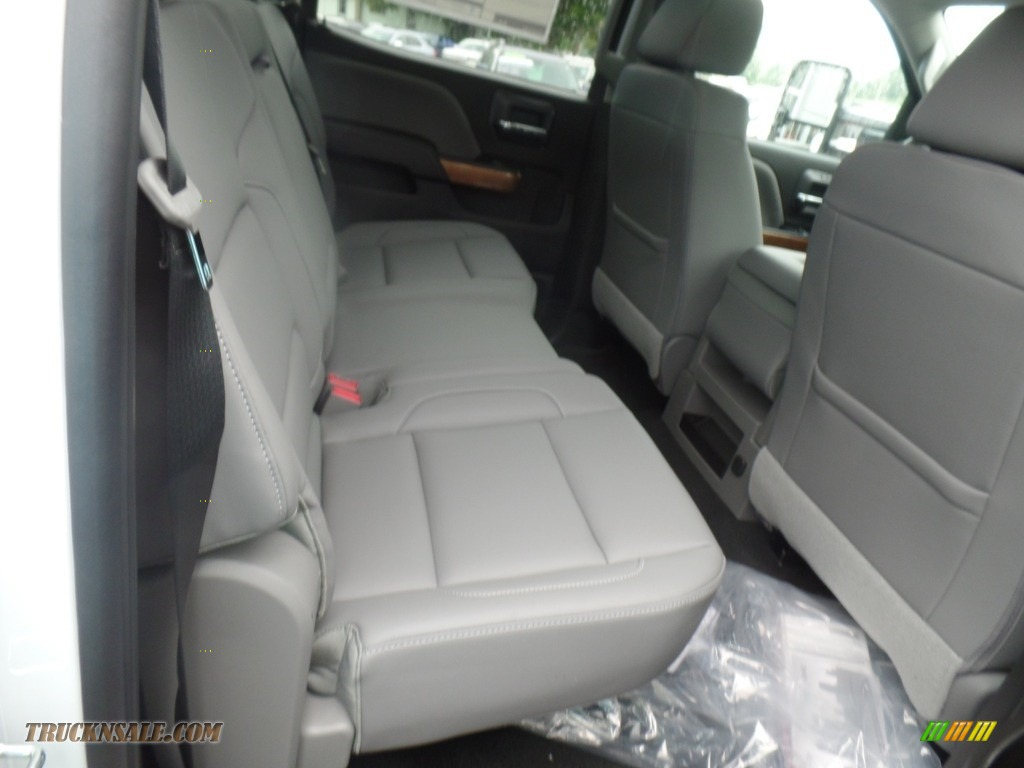 2019 Silverado 3500HD LTZ Crew Cab 4x4 Dual Rear Wheel - Summit White / Dark Ash/Jet Black photo #48