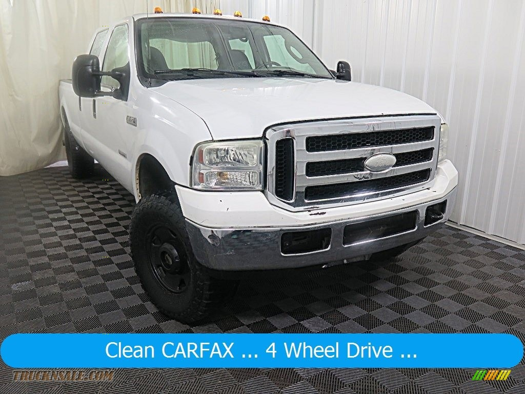 2006 F250 Super Duty XL Crew Cab 4x4 - Oxford White / Medium Flint photo #1
