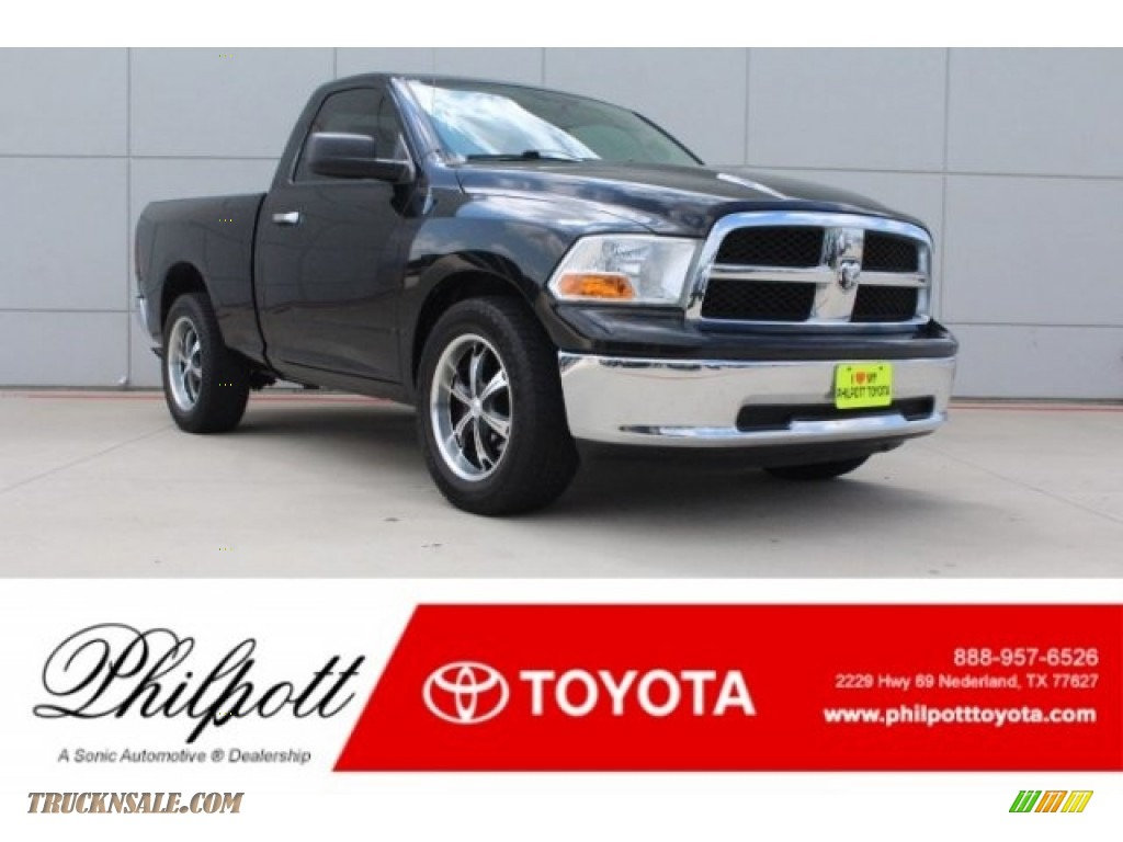 2011 Ram 1500 SLT Regular Cab - Brilliant Black Crystal Pearl / Dark Slate Gray/Medium Graystone photo #1